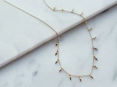Missoma - Gold Mini Fang Necklace | £95