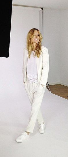 Mix Up a Tailored Suit With a Lacy Tee