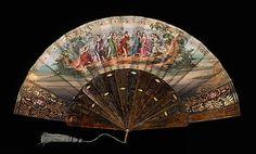 Fan  Date: 1860–79 Culture: European Medium: tortoiseshell, paper, mother-of-pearl, metal, silk Dimensions: 10 3/4 in. (27.3 cm)