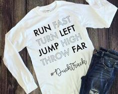Track and field Sports Party, High Jump, How To Run Faster, Track And Field, T Shirts For Women, Etsy, Track Field, Track