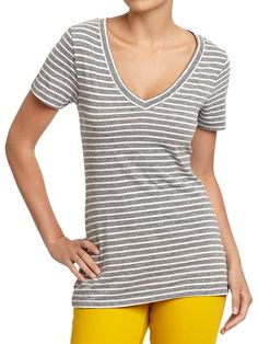 Old Navy - Women's Vintage-Style V-Neck Tees - Lots of prints - $9