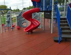 Rubber Tiles, Rubber Mat, Playground Design, Recycled Rubber, Rubber Flooring, Recycling, Deck, Modern, Terra Cotta