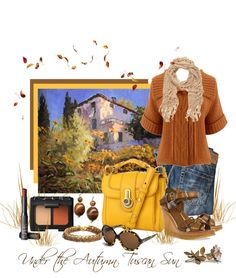 """""""Under the Autumn Tuscan Sun"""" by leegal57 ❤ liked on Polyvore"""