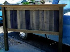 barnwood headboard plans | This my version of the Farmhouse Bed.