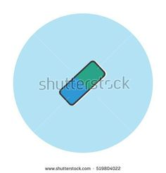 eraser flat icon vector