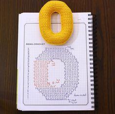 . . تعرّفوا على ذواتكم. ليس للحياة قيمة لو عرفت الجميع وجهلت نفسك. . باترون ثاني لحرف ال O .. ✨ . . #letters_crochet .