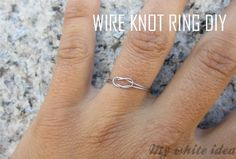 WIRE KNOT RING DIY | MY WHITE IDEA DIY >> be sure to coat with clear nail polish so it doesn't tarnish your finger