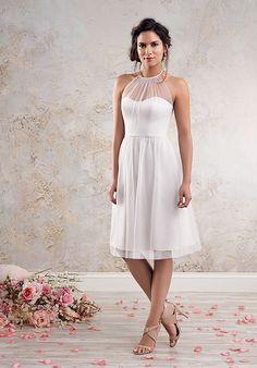 Cocktail Length Soft Net Wedding Dress   Style 8634S by Alfred Angelo   http://trib.al/VbLTxDV