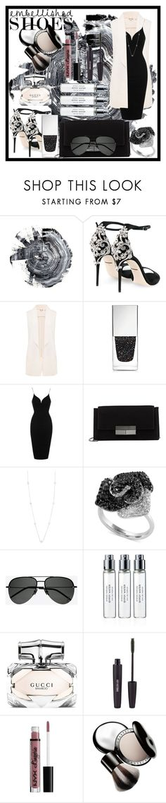 """""""Embellished SHOES"""" by babeq ❤ liked on Polyvore featuring Dolce&Gabbana, Ted Baker, Givenchy, Rare London, J. Mendel, Henri Bendel, Effy Jewelry, Yves Saint Laurent, Byredo and Gucci"""