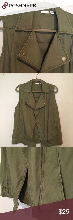 Army green utility vest from BP Army green colored Utility vest from BP. Size XS but fits like a Medium/Large. Only worn once bp Jackets & Coats Vests