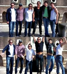 Supernatural #cast: Mark Sheppard, Richard Speight Jr, Rob Benedict, Sebastian Roche, Misha Collins, and Chad Lindberg being silly as usual ;) -Brittany