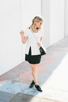 Styling the High Slit T-Shirt from Lindsay Albanese + Monrow!