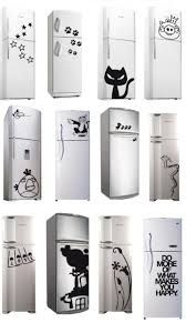 Resultado de imagen para heladera cocina diseño Paint Refrigerator, House Color Palettes, Fridge Stickers, Funny Paintings, Sharpie Art, Wall Drawing, Cat Decor, Stencil Designs, Painted Doors