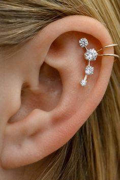 ce06f0ee8 Shooting Star-Helix Cuff - Ear Cuff - Ear Wrap - Silver Ear Cuff - Gold Ear  cuff - Helix Earring - Cartilage Earring- Fake Piercing- Earcuff