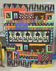 African inspired quilt for Phil