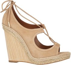 These sky-high Aquazzura espdadrille wedges will go from desk to drinks