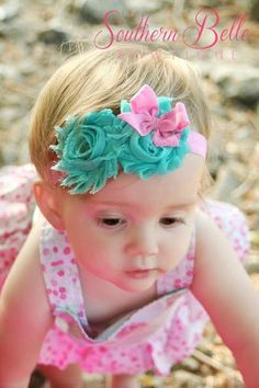 Baby headband newborn headband infant by SouthernBelleSweetie, $7.00
