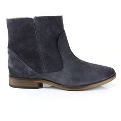A soft ankle boot with a pretty almond toe, our iconic Alice boot is easy to wear and truly versatile. This slightly updated version features a chunky metal inside zip.  A good example of how simple designs are always the best - perfect with skinny or boyfriend jeans. Velvet suede in a rich, off-black shade, lightly burnished on the heel and toe. http://sevenbootlane.com/collections/boots/products/alice-charcoal-suede