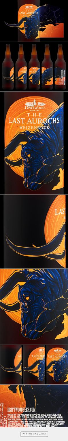 The Last Aurochs For Driftwood Brewery -  Packaging of the World - Creative Package Design Gallery - http://www.packagingoftheworld.com/2017/04/the-last-aurochs-for-driftwood-brewery.html
