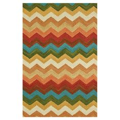Wool rug hand-hooked by artisans in India.   Product: RugConstruction Material: 100% WoolColor: Sunset...