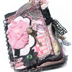 With A Grin: *A Shabby Vintage Girly Girl Mini Album* GIVEAWAY!!!#comment-form