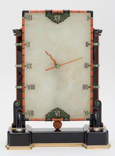 Art déco, Pendule, Louis Cartier (1875-1942), bijoutier, et Maurice Couët (1885-1963), horloger, Paris, 1927