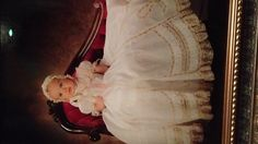 Infants are baptized in the Episcopal Church.     Emma Kate's Baptismal gown.   (heirloom sewing sourced)