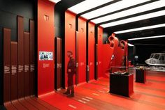 AC Casa Milan Headquarters by Fabio Novembre Stand Design, Display Design, Booth Design, Wall Design, Museum Exhibition Design, Exhibition Stall, Signage Design, Wayfinding Signage, Ifa Berlin