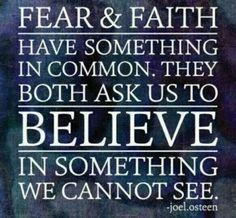 Fear vs Faith