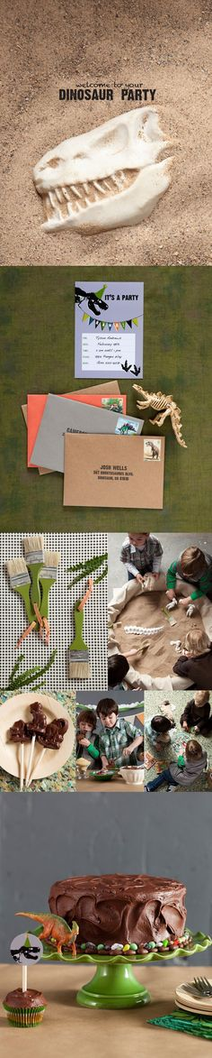 Dino dig birthday party - Cool idea for all of my friends with boys :) Or girls who like dinosaurs, too. :) I did when I was little.