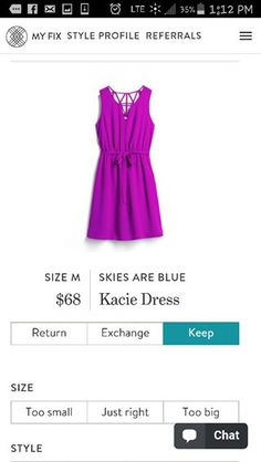 Skies Are Blue Kacie Dress. I love Stitch Fix! A personalized styling service and it's amazing!! Simply fill out a style profile with sizing and preferences. Then your very own stylist selects 5 pieces to send to you to try out at home. Keep what you love and return what you don't. Only a $20 fee which is also applied to anything you keep. Plus, if you keep all 5 pieces you get 25% off! Free shipping both ways. Schedule your first fix using the link below! #stitchfix @stitchfix. Stitchfix…