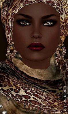 El corazón de tus ojos africanos.