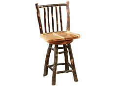 Shop For Barkman Rustic Pub Hickory Stool 10300 0401HBS And Other Dining Room