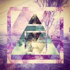 Hipster art fragmentapp triangle