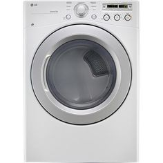 Best Buy- Gas Dryer LG - 7.3 Cu. Ft. 7-Cycle Ultralarge-Capacity Gas Dryer - White - Larger Front