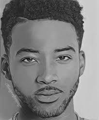 Boy Sketch, Girl Drawing Sketches, Boy Drawing, Face Sketch, Drawing Skills, Drawing Ideas, Black Love Art, Black Girl Art, Black Boys