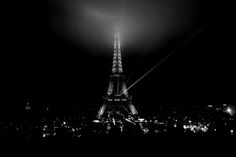 Eiffel Tower at night.....