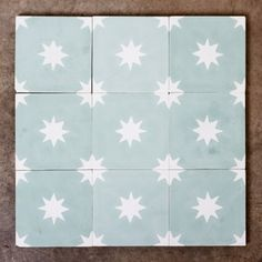 Reproduction encaustic small star tiles, - Flooring - LASSCO - England's Prime Resource for Architectural Antiques, Salvage and Curiosities Modern Flooring, Kitchen Flooring, Penny Flooring, White Flooring, Garage Flooring, Brick Flooring, Kitchen Tiles, Vinyl Flooring, Painting Tile Floors