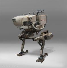 concept robots: Concept mech art by John Park
