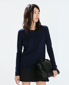 Image 2 of BUTTONED CUFFS RAYON CARDIGAN from Zara