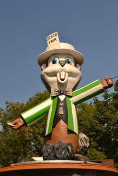 minnesota state fair . gopher mascot
