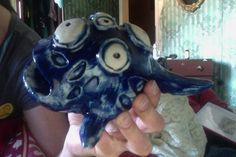 Saara Kartimo. Ceramic creature. HAMK Crafts and Recreation.