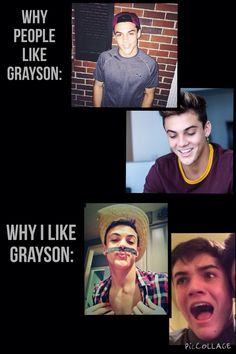 You have to like funny Grayson before you like cute Grayson