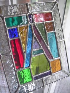 Stained Glass letter A by pewtermoonsilver