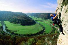 Starkes Bild vom AK Klettern im Donautal #JungeDonau