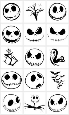40 Spooky Nightmare SVG Bundle Nightmare Before Christmas image 1 Halloween Rocks, Halloween Drawings, Halloween Nails, Fall Halloween, Halloween Crafts, Halloween Prop, Halloween Stencils, Halloween Witches, Happy Halloween