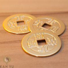 4 St 5 cm grosse Chinesische Glücksmünzen Talisman Feng Shui