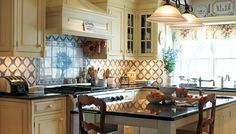 country french kitchen | Home French Country Cabinets Country Provencal..love, except for backsplash