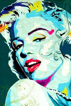 Colore Bianco//Nero PopArtUK 40 x 40 cm Stampa su Tela di Marilyn Monroe