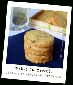 Sablés au compté, sésame et herbes de Provence (13) Thermomix Bread, Thermomix Desserts, Xmas Dinner, Salty Foods, Party Finger Foods, Appetisers, Savoury Dishes, Easy Cooking, Coco